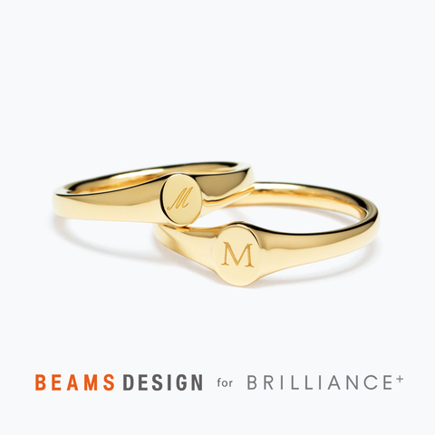 ★BEAMS DESIGN★Signet Oval