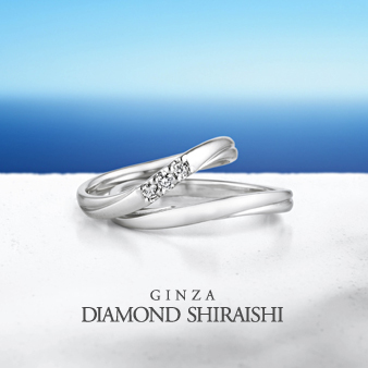 結婚指輪 三石ダイヤ